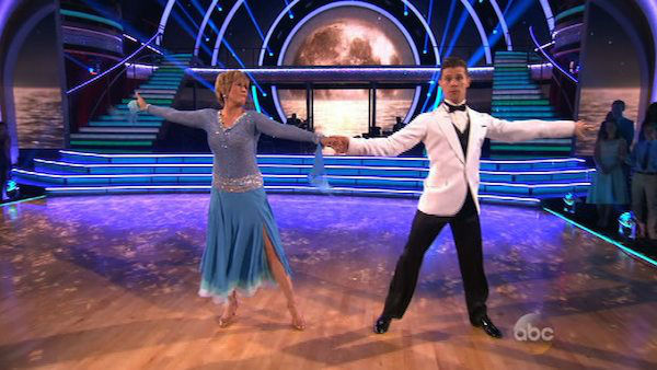 Diana Nyad and Henry Byalikov dance the Foxtrot on week one of &#39;Dancing With The Stars&#39; on March 17, 2014. They received 18 out of 30 points from the judges. <span class=meta>(ABC Photo)</span>