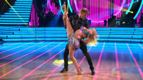 "<div class=""meta ""><span class=""caption-text "">Cody Simpson and Witney Carson dance the Cha Cha Cha on week one of 'Dancing With The Stars' on March 17, 2014. They received 22 out of 30 points from the judges. (ABC Photo)</span></div>"