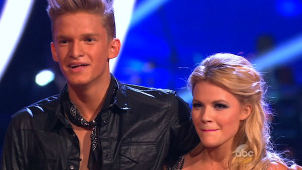 "<div class=""meta ""><span class=""caption-text "">Cody Simpson and Witney Carson danced the Cha Cha Cha on week one of 'Dancing With The Stars' on March 17, 2014. They received 22 out of 30 points from the judges. (ABC Photo)</span></div>"