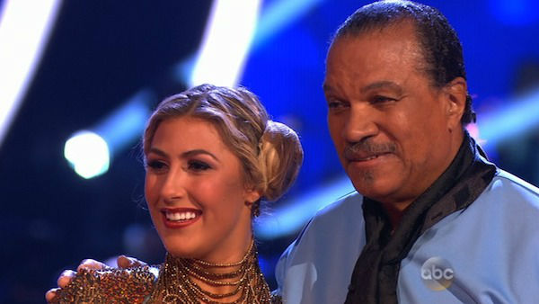 "<div class=""meta ""><span class=""caption-text "">Billy Dee Williams and Emma Slater danced the Cha Cha Cha on week one of 'Dancing With The Stars' on March 17, 2014. They received 15 out of 30 points from the judges. (ABC Photo)</span></div>"