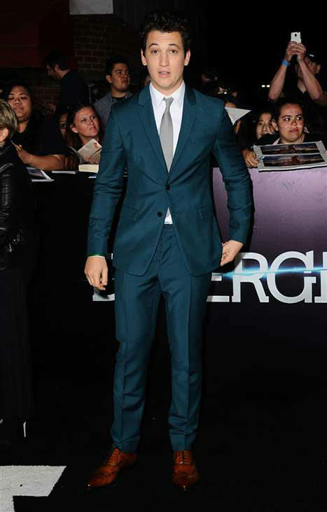 Miles Teller appears at the premiere of &#39;Divergent&#39; at the Regency Bruin Theatre in Westwood, California on March 18, 2013. <span class=meta>(Sara De Boer &#47; startraksphoto.com)</span>