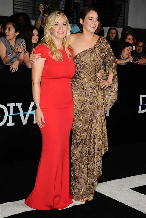 Shailene Woodley and Kate Winslet appear at the premiere of &#39;Divergent&#39; at the Regency Bruin Theatre in Westwood, California on March 18, 2013. <span class=meta>(Sara De Boer &#47; startraksphoto.com)</span>