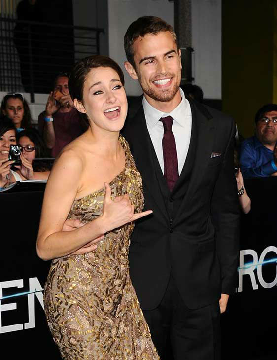 Shailene Woodley and Theo James appear at the premiere of &#39;Divergent&#39; at the Regency Bruin Theatre in Westwood, California on March 18, 2013. <span class=meta>(Sara De Boer &#47; startraksphoto.com)</span>