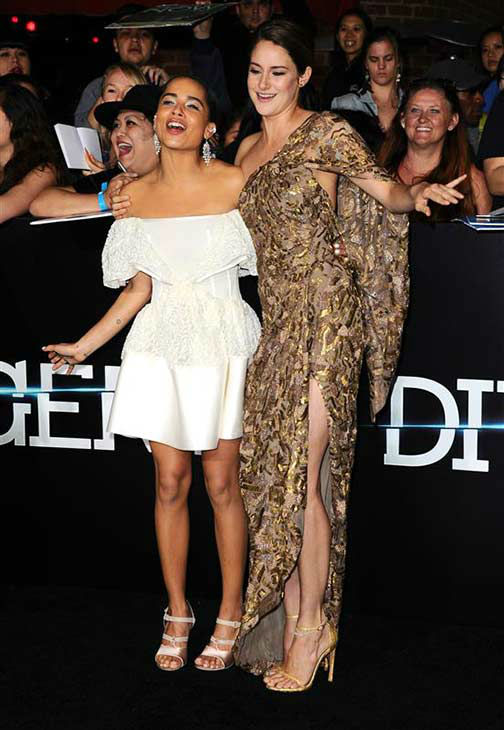 Shailene Woodley and Zoe Kravitz appear at the premiere of &#39;Divergent&#39; at the Regency Bruin Theatre in Westwood, California on March 18, 2013. <span class=meta>(Sara De Boer &#47; startraksphoto.com)</span>