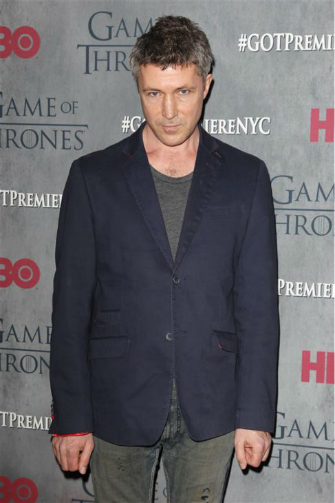 "<div class=""meta ""><span class=""caption-text "">'Game of Thrones' star Aidan Gillen (Petyr 'Littlefinger' Baelish) appears at the season 4 premiere of the hit HBO series in New York on March 18, 2014. The show returns on April 6. (Kristina Bumphrey / Startraksphoto.com)</span></div>"
