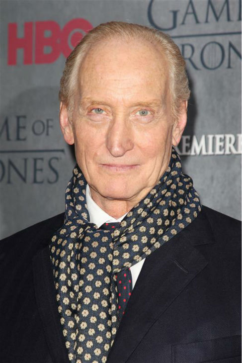 &#39;Game of Thrones&#39; star Charles Dance &#40;Tywin Lannister&#41; appears at the season 4 premiere of the hit HBO series in New York on March 18, 2014. The show returns on April 6. <span class=meta>(Kristina Bumphrey &#47; Startraksphoto.com)</span>