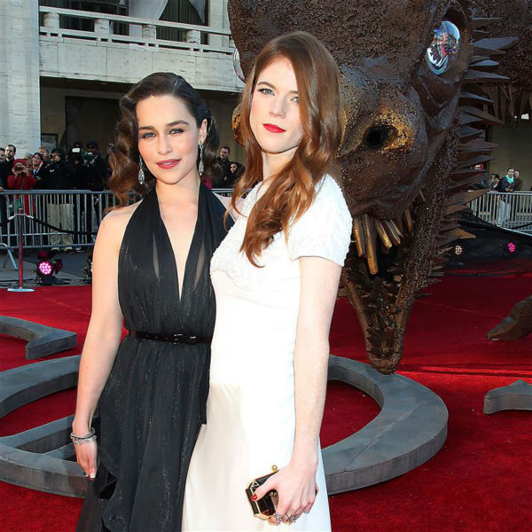 "<div class=""meta image-caption""><div class=""origin-logo origin-image ""><span></span></div><span class=""caption-text"">'Game of Thrones' stars Emilia Clarke (Daenerys Targaryen) and Rose Leslie (Ygritte) appear at the season 4 premiere of the hit HBO series in New York on March 18, 2014. The show returns on April 6. (Dave Allocca / Startraksphoto.com)</span></div>"