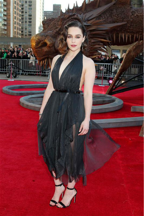 &#39;Game of Thrones&#39; star Emilia Clarke &#40;Daenerys Targaryen&#41; appears at the season 4 premiere of the hit HBO series in New York on March 18, 2014. The show returns on April 6. <span class=meta>(Dave Allocca &#47; Startraksphoto.com)</span>