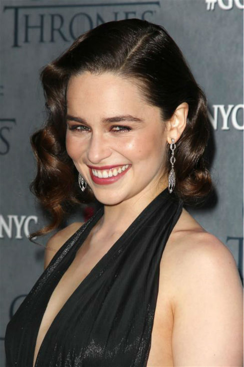 'Game of Thrones' star Emilia Clarke (Daenerys Targaryen) appears at the season 4 premiere of the hit HBO series in New York on March 18, 2014. The show returns on April 6.