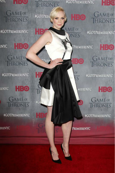 "<div class=""meta image-caption""><div class=""origin-logo origin-image ""><span></span></div><span class=""caption-text"">'Game of Thrones' star Gwendoline Christie (Brienne of Tarth) appears at the season 4 premiere of the hit HBO series in New York on March 18, 2014. The show returns on April 6. (Kristina Bumphrey / Startraksphoto.com)</span></div>"