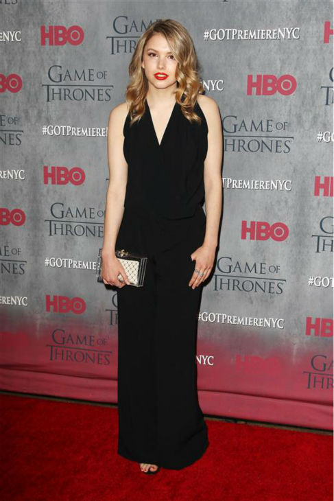 "<div class=""meta image-caption""><div class=""origin-logo origin-image ""><span></span></div><span class=""caption-text"">'Game of Thrones' star Hannah Murray (Gilly) appears at the season 4 premiere of the hit HBO series in New York on March 18, 2014. The show returns on April 6. (Kristina Bumphrey / Startraksphoto.com)</span></div>"
