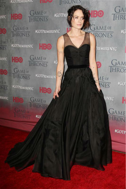 "<div class=""meta image-caption""><div class=""origin-logo origin-image ""><span></span></div><span class=""caption-text"">'Game of Thrones' star Lena Headey (Cersei Lannister) appears at the season 4 premiere of the hit HBO series in New York on March 18, 2014. The show returns on April 6. (Kristina Bumphrey / Startraksphoto.com)</span></div>"