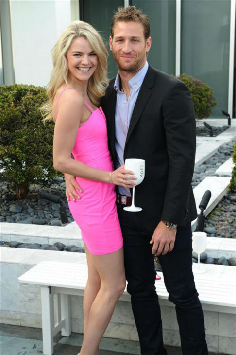 "<div class=""meta ""><span class=""caption-text "">Juan Pablo Galavis, star of ABC's 'The Bachelor' season 18, and winner Nikki Ferrell, pose at the Moet and Chandon 'Tiny Tennis' with Roger Federer event at Club 50 at Viceroy Miami on March 19. (Seth Browarnik / Startraksphoto.com)</span></div>"
