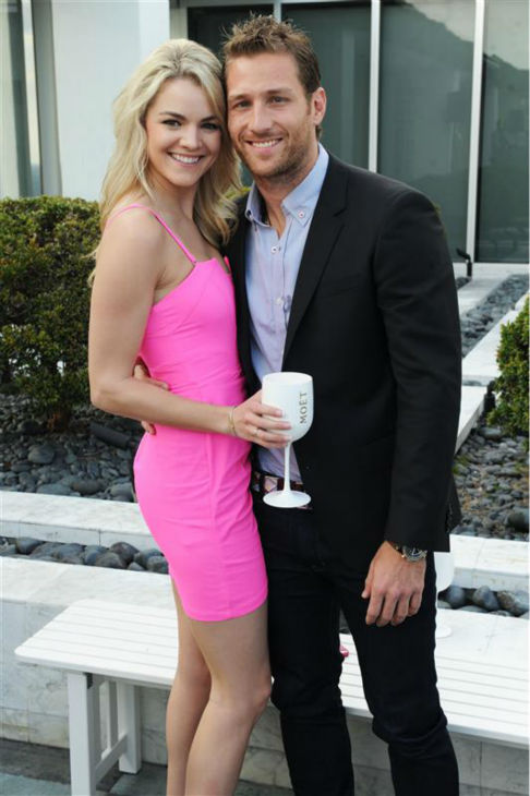 "<div class=""meta ""><span class=""caption-text "">Juan Pablo Galavis, star of ABC's 'The Bachelor' season 18, and winner Nikki Ferrell appear at the Moet and Chandon 'Tiny Tennis' with Roger Federer event at Club 50 at Viceroy Miami on March 19. (Seth Browarnik / Startraksphoto.com)</span></div>"