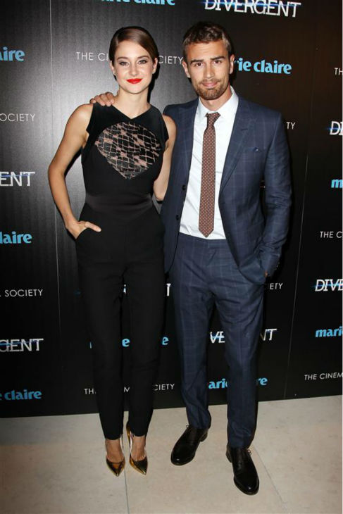"<div class=""meta image-caption""><div class=""origin-logo origin-image ""><span></span></div><span class=""caption-text"">Shailene Woodley (Tris) and Theo James (Four) appear at a screening for 'Divergent' in New York on March 20, 2014. (Kristina Bumphrey / Startraksphoto.com)</span></div>"