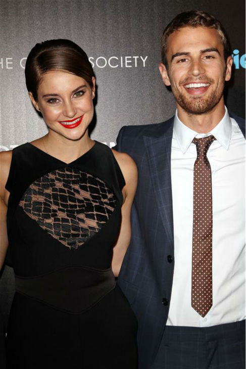 Shailene Woodley &#40;Tris&#41; and Theo James &#40;Four&#41; appear at a screening for &#39;Divergent&#39; in New York on March 20, 2014. <span class=meta>(Kristina Bumphrey &#47; Startraksphoto.com)</span>