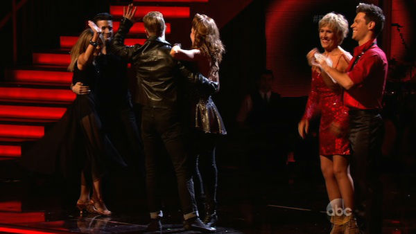 "<div class=""meta image-caption""><div class=""origin-logo origin-image ""><span></span></div><span class=""caption-text"">Candace Cameron Bure and Mark Ballas react to being safe from elimination on week two of 'Dancing With The Stars' on March 24, 2014. They received 21 out of 30 points from the judges for their Rumba. (ABC Photo)</span></div>"