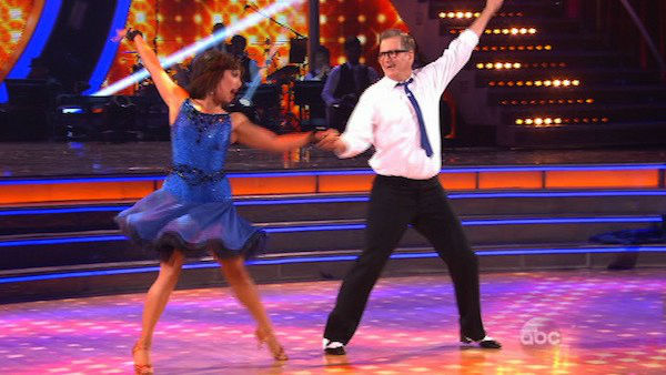 "<div class=""meta ""><span class=""caption-text "">Drew Carey and Cheryl Burke dance the Jive on week two of 'Dancing With The Stars' on March 24, 2014. They received 21 out of 30 points from the judges. (ABC Photo)</span></div>"