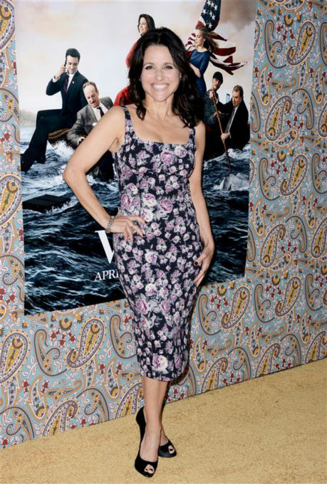 Julia Louis-Dreyfus appears at the premiere of season 3 of the HBO series &#39;Veep&#39; at Paramount Studios in Los Angeles on March 24, 2014. She plays Vice President Selina Meyer on the show. <span class=meta>(Lionel Hahn &#47; Abacausa &#47; Startraksphoto.com)</span>