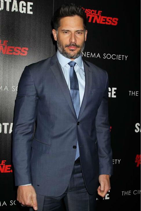 "<div class=""meta ""><span class=""caption-text "">The 'I-Clean-Up-Nice' stare: Joe Manganiello appears at a screening of 'Sabotage' in New York on March 25, 2014. (Dave Allocca / Startraksphoto.com)</span></div>"