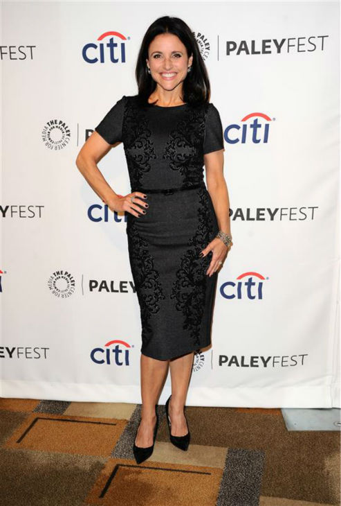 Julia Louis-Dreyfus appears at a PaleyFest event celebrating the HBO show &#39;Veep,&#39; presented by the Paley Center For Media, in Hollywood, California on March 27, 2014. The actress plays Vice President Selina Meyer on the series. <span class=meta>(Sara De Boer &#47; Startraksphoto.com)</span>