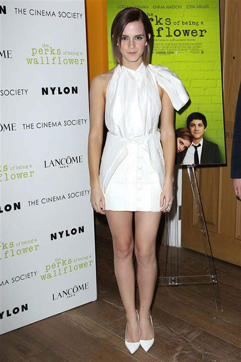 Emma Watson appears at the New York screening of &#39;The Perks of Being A Wallflower&#39; on Sept. 13, 2012. <span class=meta>(Kristina Bumphrey&#47;Startraksphoto.com)</span>