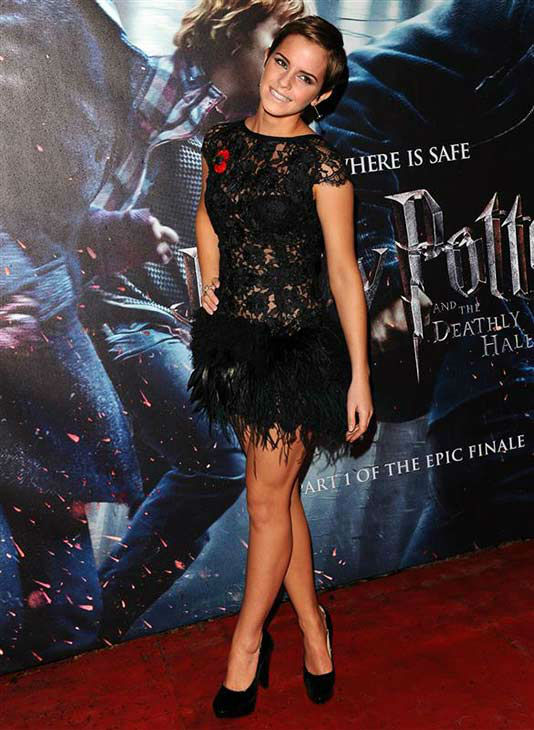 Emma Watson appears at the premiere of &#39;Harry Potter And The Deathly Hallows Part 1&#39; in London on Nov. 11, 2010. <span class=meta>(Michael Bowles&#47;Startraksphoto.com)</span>