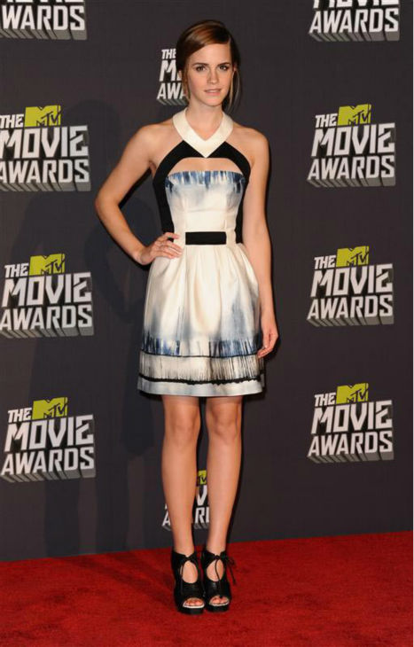 "<div class=""meta image-caption""><div class=""origin-logo origin-image ""><span></span></div><span class=""caption-text"">Emma Watson appears at the 2013 MTV Movie Awards on April 14, 2013.  (KYLE ROVER/startraksphoto.com)</span></div>"