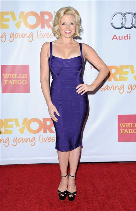 Megan Hilty appears at the TrevorLIVE LA event in Los Angeles, California on Dec. 8, 2013.