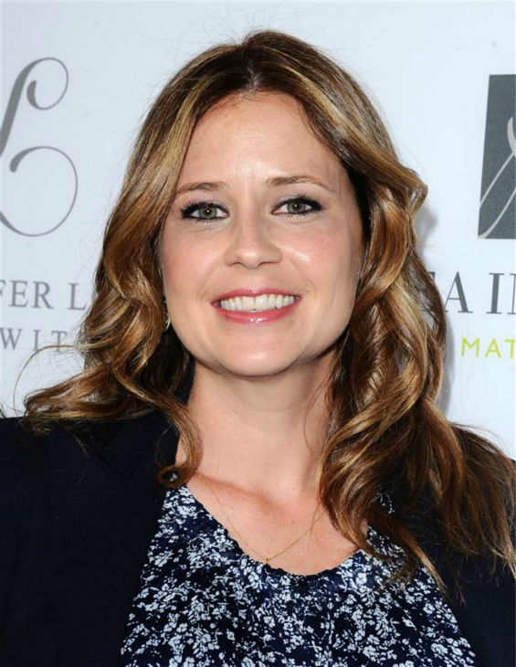 &#39;The Office&#39; alum Jenna Fischer, who is pregnant with her second child, appears at A Pea In The Pod maternity wear&#39;s celebration of the launch of Jennifer Love Hewitt&#39;s maternity fashion collection, L By Jennifer Love Hewitt, in Beverly Hills, California on April 1, 2014. <span class=meta>(Sara De Boer &#47; Startraksphoto.com)</span>