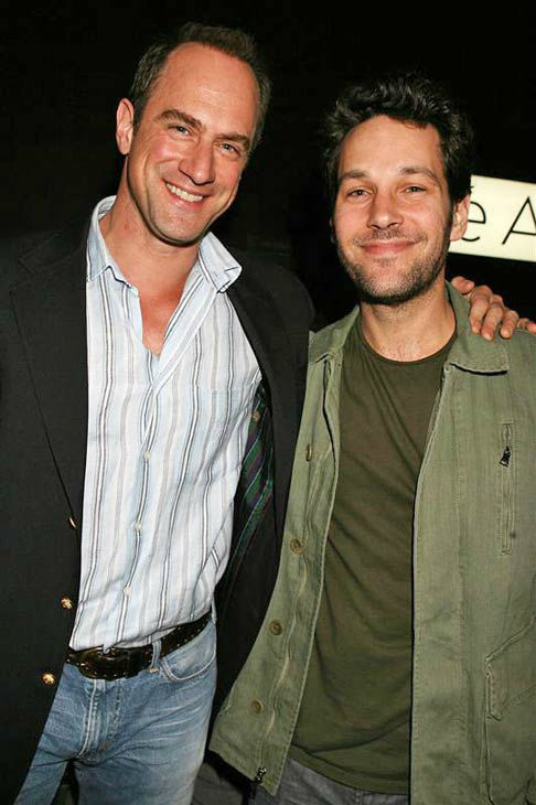 "<div class=""meta ""><span class=""caption-text "">Christopher Meloni and Paul Rudd appear at the New York premiere of 'V For Vendetta' on March 13, 2006. (Dave Allocca/startraksphoto.com)</span></div>"