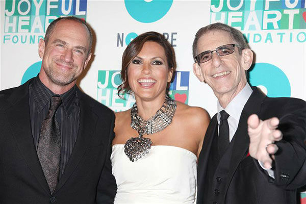 "<div class=""meta image-caption""><div class=""origin-logo origin-image ""><span></span></div><span class=""caption-text"">Christopher Meloni, Mariska Hargitay and Richard Belzer appear at the Joyful Heart Foundation's 6th Annual Joyful Revolution Gala (founded by Hargitay) in New York City on May 9, 2013.  (Adam Nemser/startraksphoto.com)</span></div>"