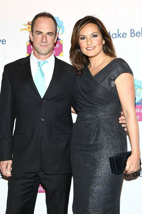 Mariska Hargitay and Chris Meloni appear at the 12th Annual Gala and performance of the play &#39;Make Believe on Broadway&#39; on Nov. 14, 2011.  <span class=meta>(Sara Jaye Weiss&#47;StarTraksPhoto.com)</span>