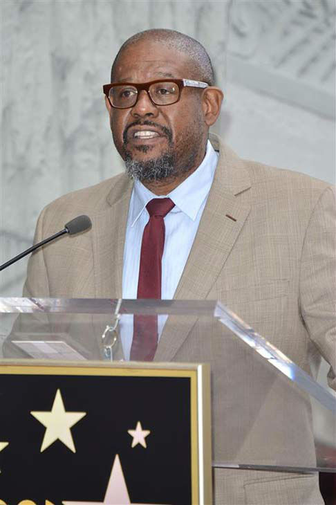 Forest Whitaker appears at Orlando Bloom&#39;s Hollywood Walk of Fame ceremony on April 2, 2014. The two appear in the upcoming film &#39;Zulu.&#39; <span class=meta>(Tony Dimaio &#47; startraksphoto.com)</span>
