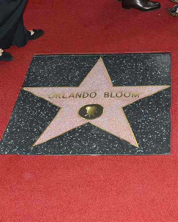 Orlando Bloom&#39;s star on the Hollywood Walk of Fame. The actor received the honor on April 2, 2014. <span class=meta>(Tony Dimaio &#47; startraksphoto.com)</span>