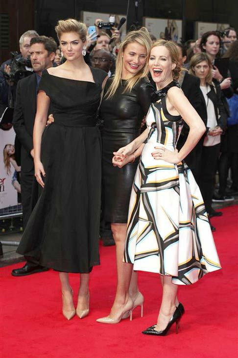 Kate Upton, Cameron Diaz and Leslie Mann appear at the UK Gala screening of &#39;The Other Woman&#39; in London on April 2, 2014. <span class=meta>(Future Image&#47;startraksphoto.com)</span>