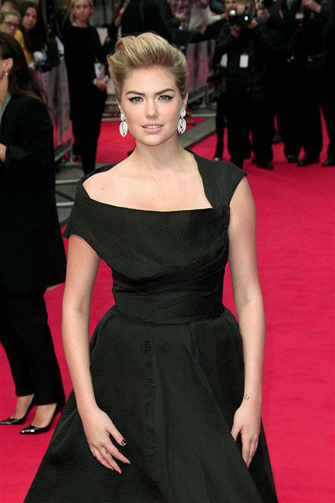 Kate Upton appears at the UK Gala screening of &#39;The Other Woman&#39; in London on April 2, 2014. <span class=meta>(ABACA&#47;startraksphoto.com)</span>