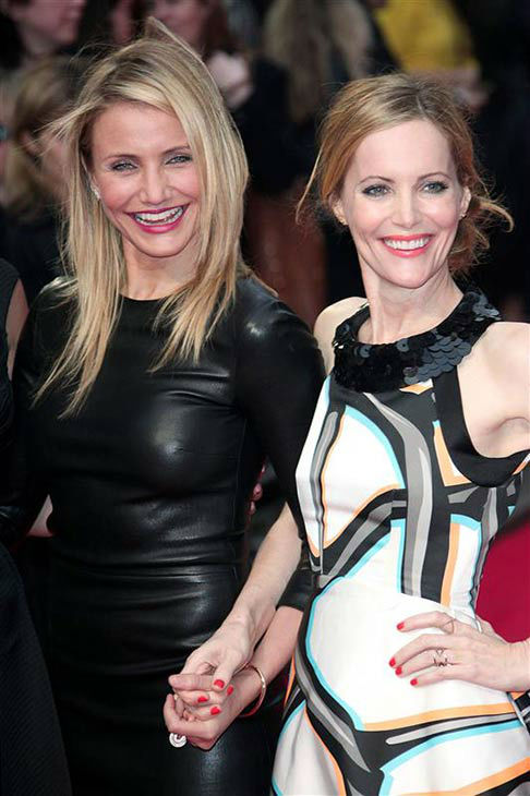 Cameron Diaz and Leslie Mann appear at the UK Gala screening of &#39;The Other Woman&#39; in London on April 2, 2014. <span class=meta>(ABACA&#47;startraksphoto.com)</span>