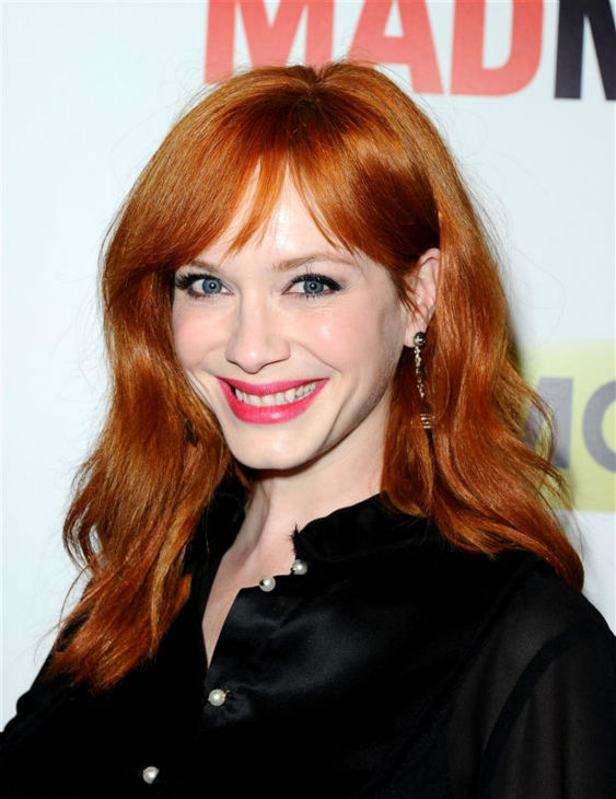 Christina Hendricks &#40;Joan Harris&#41; appears at the season 7 premiere of AMC&#39;s &#39;Mad Men&#39; in Hollywood, California on April 2, 2014. <span class=meta>(Daniel Robertson &#47; Startraksphoto.com)</span>