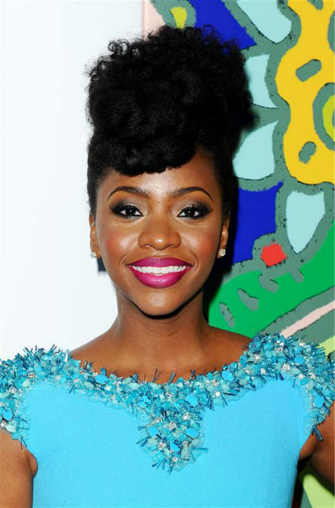 Teyonah Parris &#40;Dawn Chambers&#41; appears at the season 7 premiere of AMC&#39;s &#39;Mad Men&#39; in Hollywood, California on April 2, 2014. <span class=meta>(Daniel Robertson &#47; Startraksphoto.com)</span>