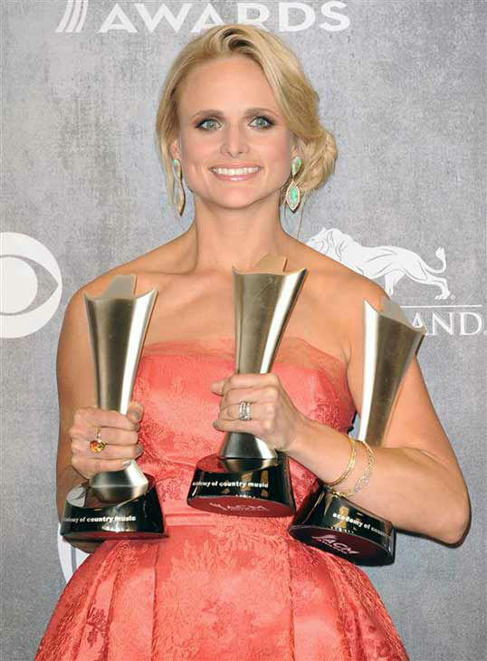 "<div class=""meta ""><span class=""caption-text "">Miranda Lambert appears backstage at the 49th annual Academy of Country Music Awards in Las Vegas on April 6, 2014. She took home awards for Female Vocalist of the Year, Single of the Year for 'Mama's Broken Heart' and Vocal Event of the Year for her duet with Keith Urban, titled 'We Were Us.' (Sara De Boer / startraksphoto.com)</span></div>"