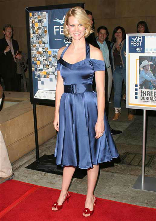 "<div class=""meta ""><span class=""caption-text "">January Jones appears at the screening of 'Three Burials of  Melquiades Estrada' in Los Angeles on Nov. 7, 2005.  (Darrell Graham / startraksphoto.com)</span></div>"