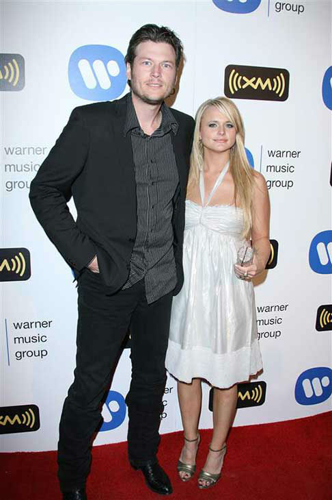 Miranda Lambert appears with husband and singer Blake Shelton at the Warner Music Group post-Grammy party in Los Angeles on Feb. 10, 2008. <span class=meta>(Jen Lowery &#47; startraksphoto.com)</span>