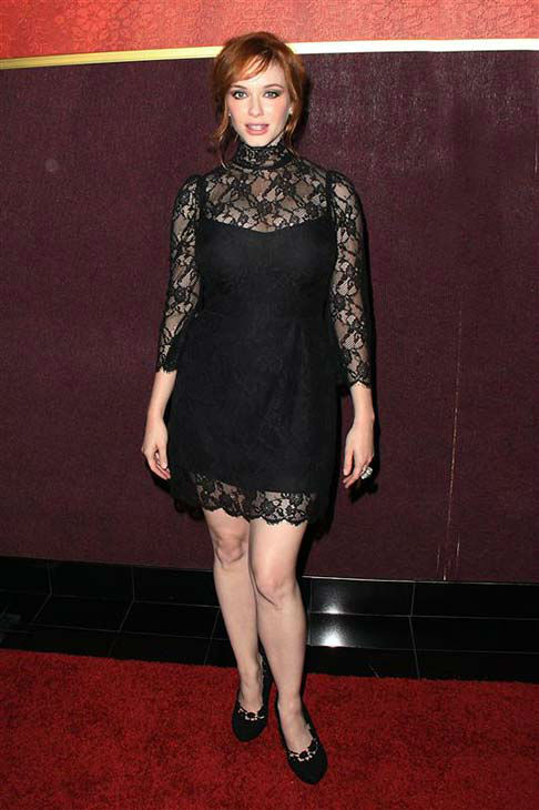 Christina Hendricks appears at the &#39;Mad Men&#39; season 4 premiere party in Los Angeles on July 20, 2010.  <span class=meta>(Tony DiMaio &#47; startraksphoto.com)</span>