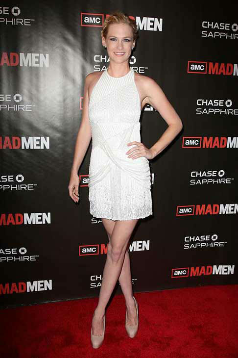 January Jones appears at the &#39;Mad Men&#39; season 4 premiere party in New York City on July 25, 2010.  <span class=meta>(Amanda Schwab &#47; startraksphoto.com)</span>