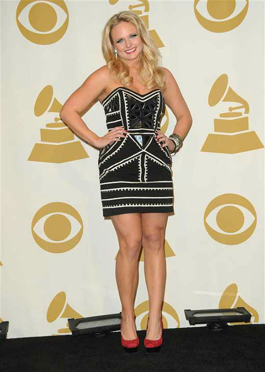 "<div class=""meta image-caption""><div class=""origin-logo origin-image ""><span></span></div><span class=""caption-text"">Miranda Lambert appears at the Grammy Nominations Concert in Los Angeles on Dec. 1, 2010.  (Kyle Rover / startraksphoto.com)</span></div>"