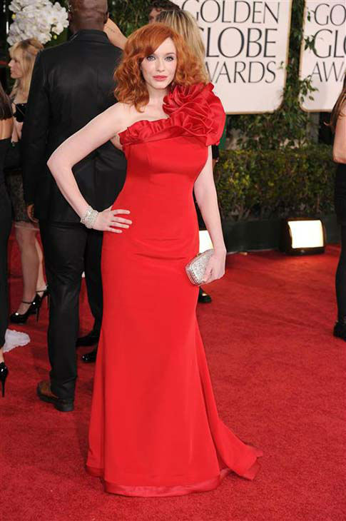 Christina Hendricks appears at the 68th annual Golden Globe Awards in Los Angeles on Jan. 16, 2011.  <span class=meta>(Declan Goldring &#47; startraksphoto.com)</span>