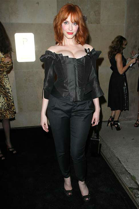 "<div class=""meta image-caption""><div class=""origin-logo origin-image ""><span></span></div><span class=""caption-text"">Christina Hendricks appears at the Vivienne Westwood store opening in Los Angeles on March 30, 2011.  (Norman Scott / startraksphoto.com)</span></div>"