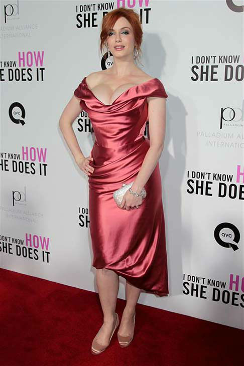 Christina Hendricks appears at the premiere of &#39;I Don&#39;t Know How She Does It&#39; in New York City on Sept. 12, 2011.  <span class=meta>(Marion Curtis &#47; startraksphoto.com)</span>