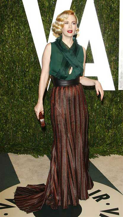 "<div class=""meta ""><span class=""caption-text "">January Jones appears at the 2012 Vanity Fair Oscar party in Los Angeles on Feb. 26, 2012.  (Future Image / startraksphoto.com)</span></div>"